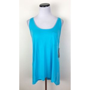 NWT Ana Blue Racerback Tank Top Large